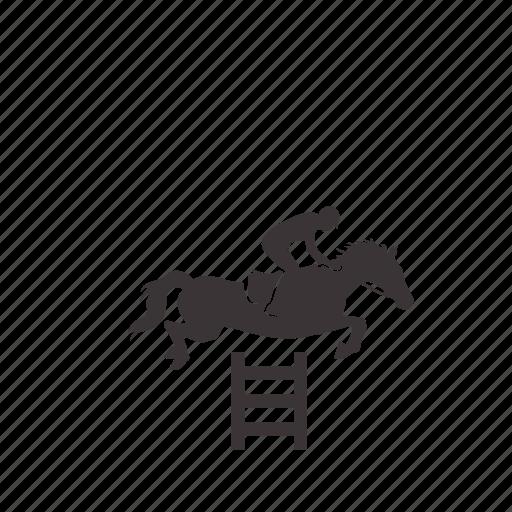 equestrian, horse, jockey, jump, riding, sport icon