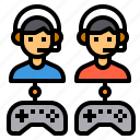 battle, competition, game, joystick, multiplayer icon