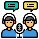caster, gaming, headphones, jobs, microphone icon