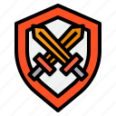 esport, fightinng, game, gaming, online, shield icon
