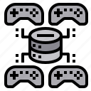 game, gaming, joystick, network, networking, server icon