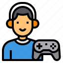 avatar, game, gamer, joystick, player, video icon