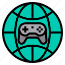 game, gaming, global, internet, online icon