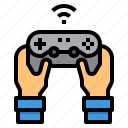 control, game, gaming, hands, joystick, video icon