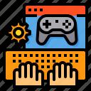 game, joystick, keyboard, online, setting, video icon