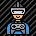 gaming, glasses, reality, simulation, virtual, vr icon