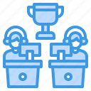 battle, competition, game, multiplayer, video, winner icon