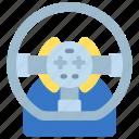 steering, wheel, controller, gaming, racing, game, car