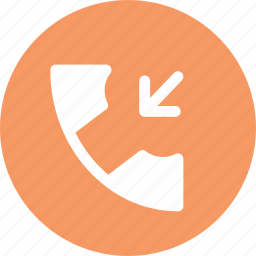 call, incoming call, phone, receive call icon
