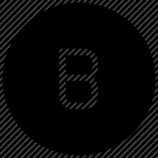 alphabet, b icon