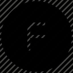 alphabet, f icon