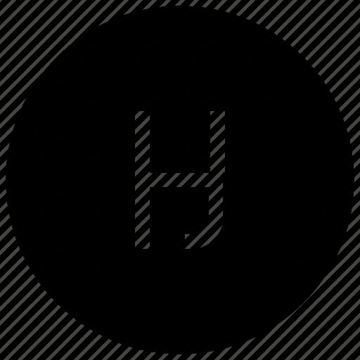 alphabet, h icon