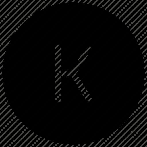 alphabet, k icon