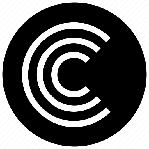 c, curves, lines icon