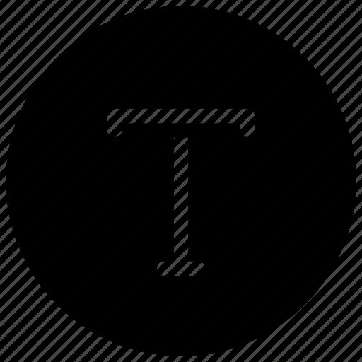 alphabet, font, t icon