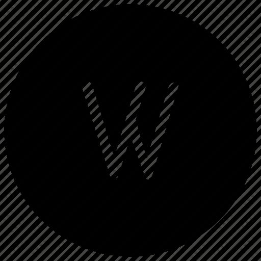 alphabet, w icon