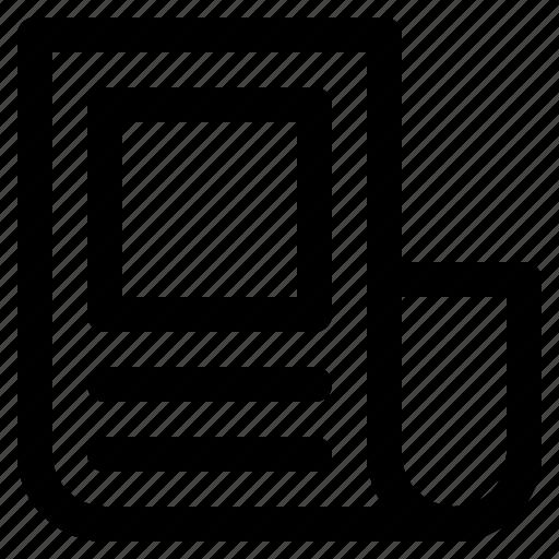 essential, interface, menu, news, paper, ui, user icon