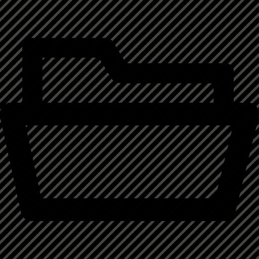 archive, directory, document, file, folder, folder open, storage icon