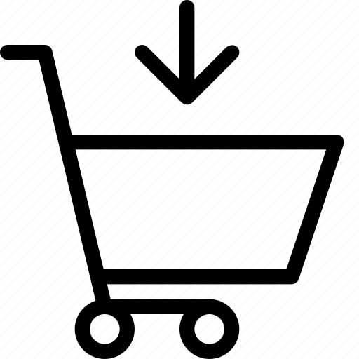 add to cart, caddie, shopping, shopping cart icon