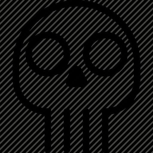 danger, death, destroy, skull icon