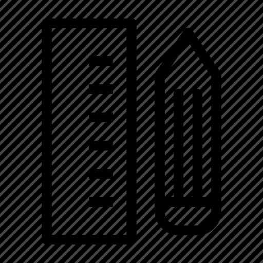 design, pencil, rule, tape rule icon