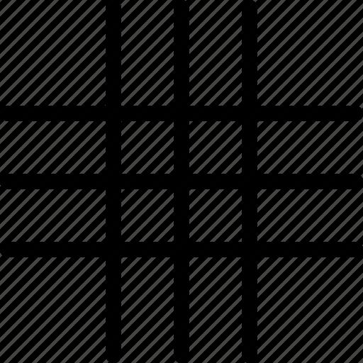 grid, grid lines, line grid, lines icon