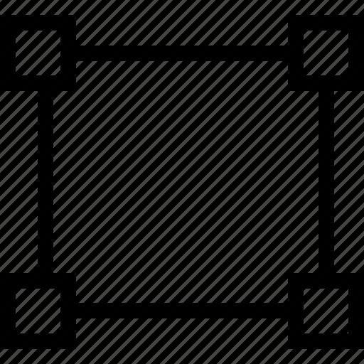 crop, cropping, handle, handles icon