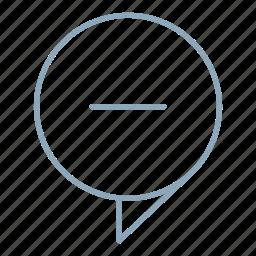 chat, comment, conversation, delete, help, messages, remove icon
