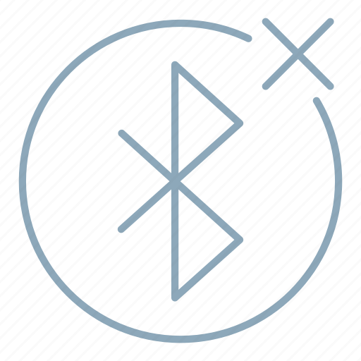 bluetooth, connection, device, disconnect, wireless icon