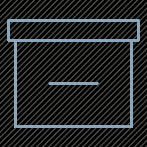 archive, box, documents, remove icon