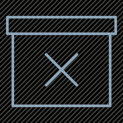 archive, box, delete, documents, remove icon
