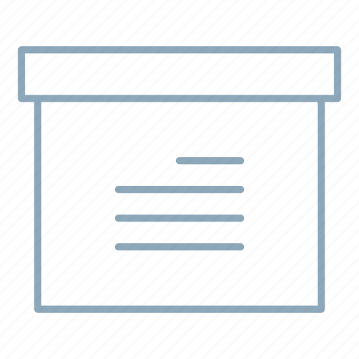 archive, box, documents, office, package icon