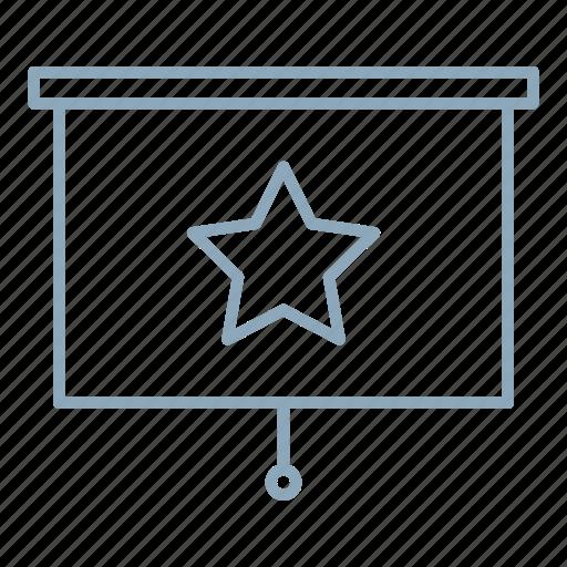 bookmark, presentation, report, star icon