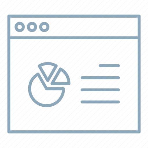 browser, data, report, statistics, website icon