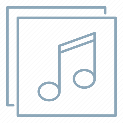 album, library, music, song icon