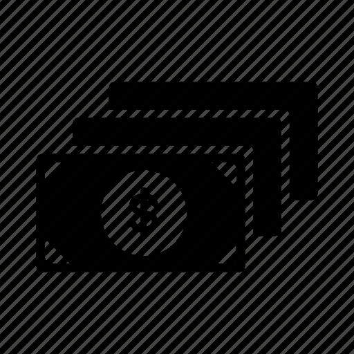 bundle, cash, dollars, money, notes icon