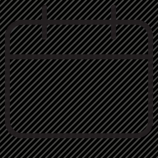 Blank Calendar Icon : Blank calendar day event schedule icon