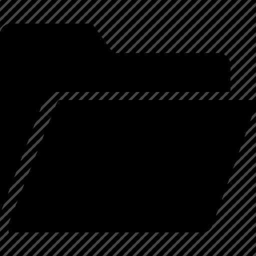 communication, essential, folder, interaction, open icon