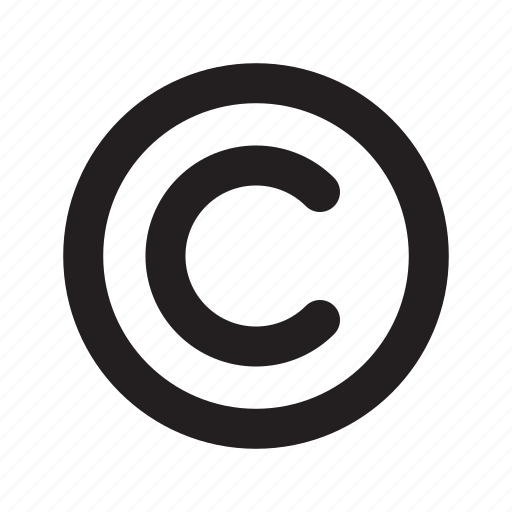 copyright, right, trademark icon