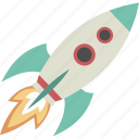 launch, rocket, space, spaceship, startup icon