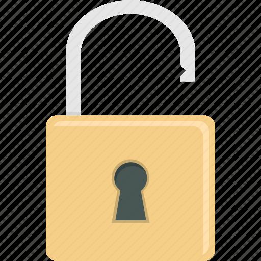 lock, padlock, security, unlock icon