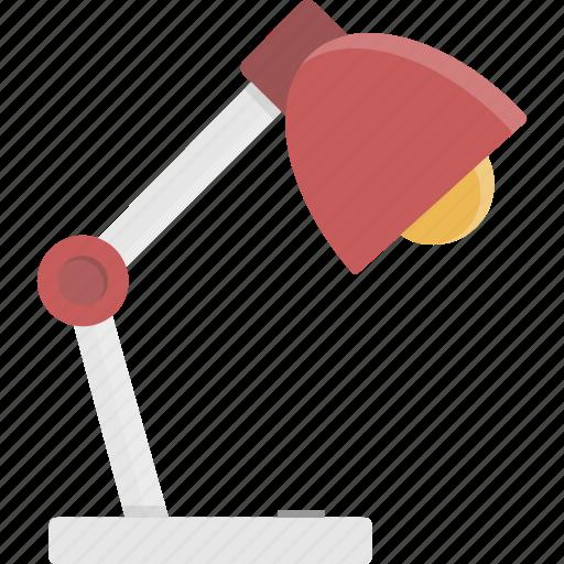 desk, desk lamp, lamp, light, office icon