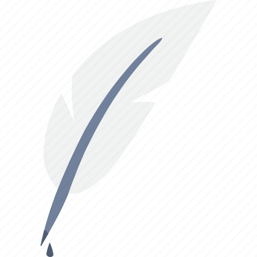 feather, quill, write icon