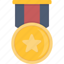 award, gold, medal icon