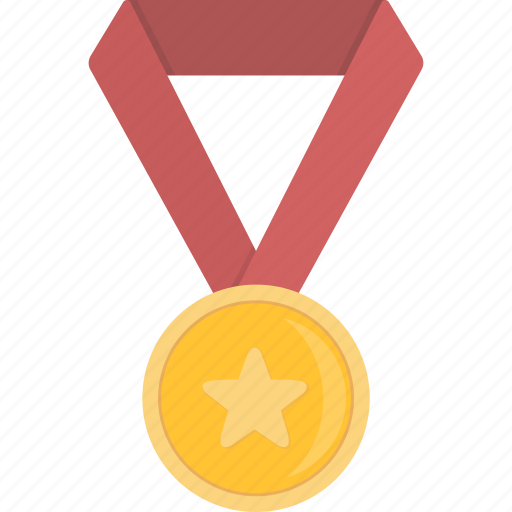 achievement, award, gold, medal icon