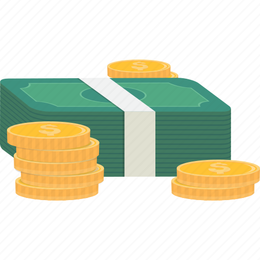 bills, cash, coins, dollars, money, pay, payment icon