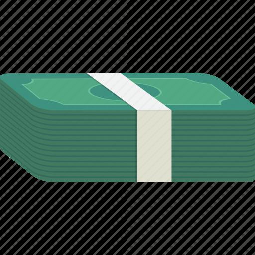 bills, cash, dollars, money, payment, stack icon