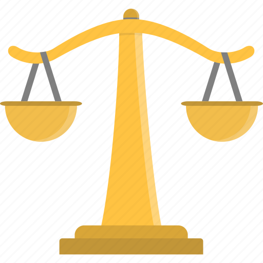 court, justice, law, legal, scale, scales, weigh icon