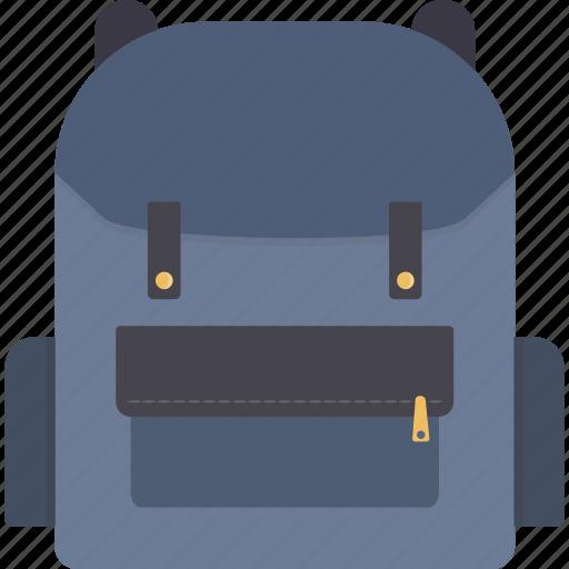 backpack, bag, bookbag, knapsack, rucksack icon