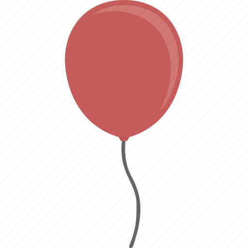 balloon, red icon